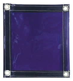 Radnor 6' X 8' 14 MIL Blue Transparent Vinyl Replacement Welding Screen