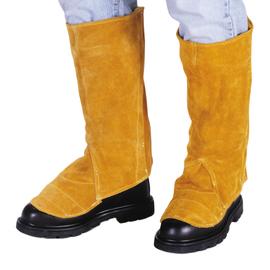 "Radnor 15"" Bourbon Brown Side Split Leather Leggings With Spring Closure"