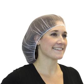 """Radnor 24"""" White Polyester Hairnet (100 Per Bag)"""