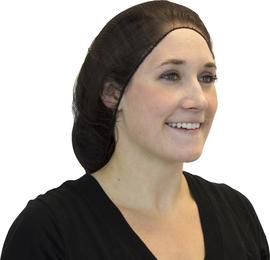 "Radnor 18"" Brown Polyester Hairnet (100 Per Bag)"