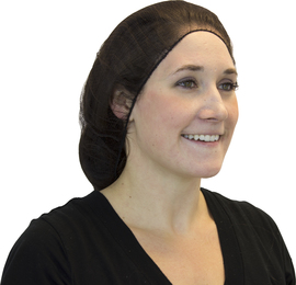 "Radnor 24"" Brown Polyester Hairnet (100 Per Bag)"