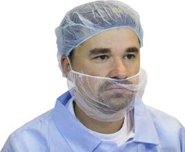 Radnor White Polyester Mesh Beard Restraint (100 Per Bag, 10 Bags Per Case_