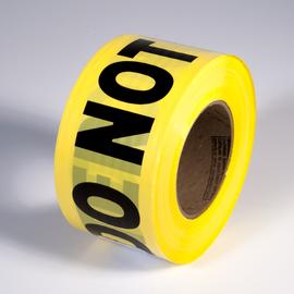 "Radnor 3"" X 1000' Yellow 2 mil Barricade Tape ""Caution Do Not Enter"""
