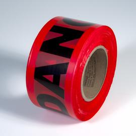 "Radnor 3"" X 1000' Red 2 mil Barricade Tape ""Danger"""