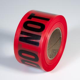 """Radnor 3"""" X 1000' Red 2 mil Barricade Tape """"Danger Do Not Enter"""""""