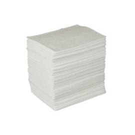 """Radnor 15""""  X 17"""" Light Weight Oil Sorbent Pads Perforated At 7 1/2"""""""