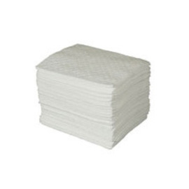 """Radnor 15"""" X 18"""" Polypropylene Premium Lightweight Oil Sorbent Pads Perforated Every 7 1/2"""" (200 Per Bale)"""