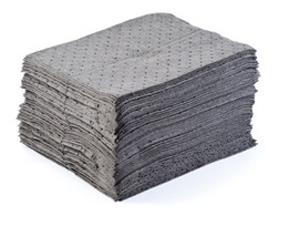"""Radnor 15""""  X 17"""" Heavy Weight Universal Sorbent Pads Perforated At 7 1/2"""""""