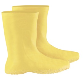 "Radnor 2X Yellow 12"" Latex Hazmat Overboots With Ribbed And Textured Outsole"