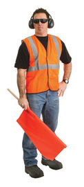 Radnor 2X | 3X | 2X/3X Orange Polyester/Mesh Economy Vest