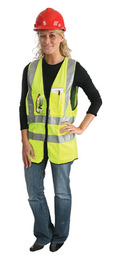 Radnor 3X Yellow Polyester/Tricot Surveyor Vest