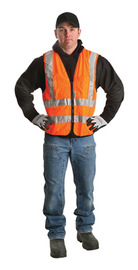 Radnor 2X Orange Polyester/Tricot Surveyor Vest
