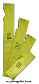 "Radnor 18"" Yellow DuPontª Kevlar Brand Fiber 2-Ply Cut Resistant Sleeve With Thumb Slot"