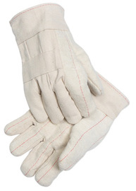 Radnor Extra Heavy-Weight Burlap Lined Nap-Out Hot Mill Glove With Band Top Cuff