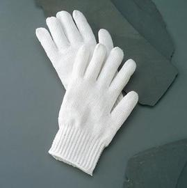 Radnor Ladies Bleached White Standard Weight Polyester/Cotton Ambidextrous String Gloves With Knit Wrist