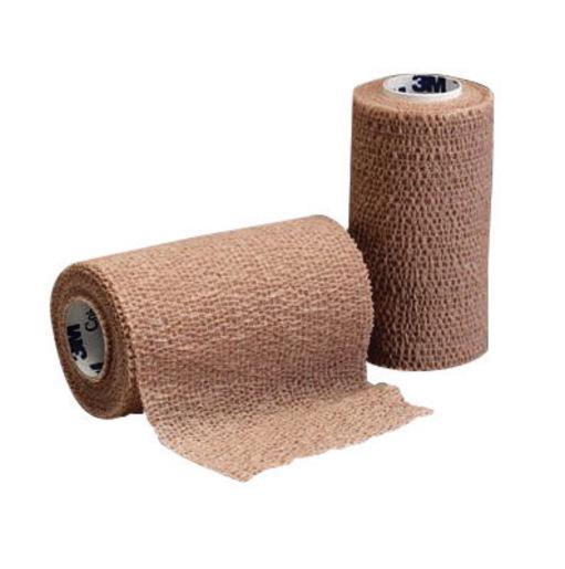"""3M™ 2"""" X 5 Yard Roll Tan Coban™ Self-Adherent Elastic Wrap (36 Roll Per Case)"""