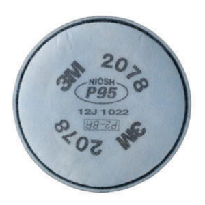 3M™ 2078 P95 Filter For 5000, 6000, 6500, 7000 And FF-400 Series Respirators