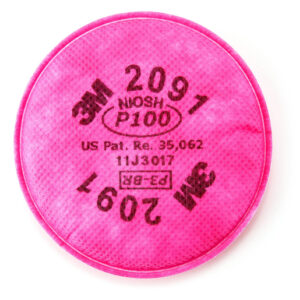 3M™ 2091 P100 Filter For 5000, 6000, 6500, 7000 And FF-400 Series Respirators