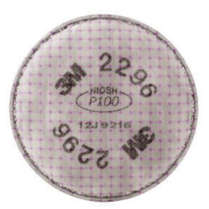 3M™ 2296 P100 Filter For 5000, 6000, 6500, 7000 And FF-400 Series Respirators (2 Per Bag, 100 Bags Per Case)