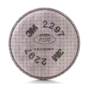 3M™ 2297 P100 Filter For 5000, 6000, 6500, 7000 And FF-400 Series Respirators (2 Per Bag, 50 Bags Per Case)