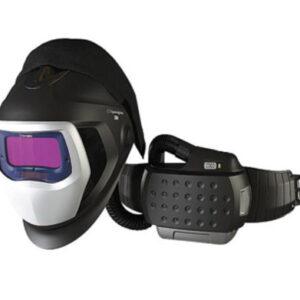 """3M™ Adflo™ Belt-Mounted Universal Lithium Ion High Efficiency PAPR System With Speedglas™ 9100-Air Welding Helmet And 5, 8 - 13 Shade 2.1"""" X 4.2"""" Speedglas™ 9100X Auto Darkening Filter"""