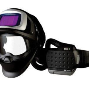 """3M™ Adflo™ Belt-Mounted Universal Lithium Ion High Efficiency PAPR System With Speedglas™ 9100 FX-Air Welding Helmet And 5, 8 - 13 Shade 2.1"""" X 4.2"""" Speedglas™ 9100XX Auto Darkening Filter"""