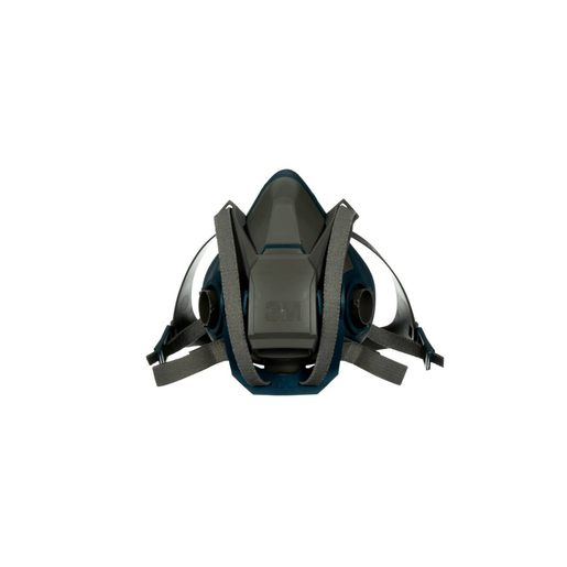 3M™ Small Gray And Teal Silicone And Nylon 6500 Series Half Facepiece Rugged Comfort Reusable Respirator With 4 Point Quick Latch Harness And Bayonet Connection