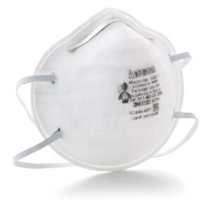 3M™ Standard N95 8200 Disposable Particulate Respirator With Adjustable Nose Clip - Meets NIOSH And OSHA Standards (20 Each Per Box)