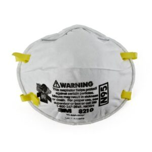 3M™ Standard N95 8210 Disposable Particulate Respirator With Adjustable Nose Clip - Meets NIOSH And OSHA Standards (20 Each Per Box)