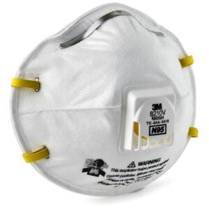 3M™ Standard N95 8210V Disposable Particulate Respirator With Cool Flow™ Exhalation Valve And Adjustable Nose Clip - Meets NIOSH And OSHA Standards (10 Each Per Box)