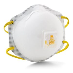 3M™ Standard N95 8211 Disposable Particulate Respirator With Cool Flow™ Exhalation Valve, Braided Headband And Adjustable Nose Clip - Meets NIOSH And OSHA Standards (10 Each Per Box)