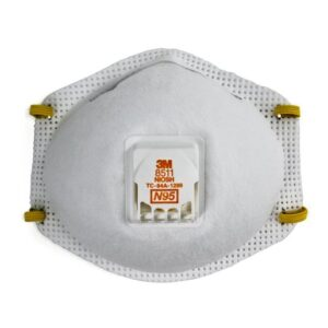3M™ Standard N95 8511 Disposable Particulate Respirator With Cool Flow™ Exhalation Valve, Braided Headband And Adjustable M-Nose Clip - Meets NIOSH And OSHA Standards (10 Each Per Box)