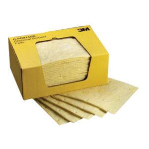 "3M™ 9 1/4"" X 14 1/2"" Yellow High Capacity Sorbent Pad (25 Per Box)"