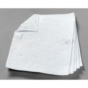 "3M™ 17"" X 19"" White Polypropylene And Polyester High Capacity Sorbent Pad 37.5 gal/bale"