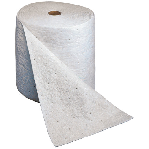 """3M™ 15"""" X 150' Light Gray Polypropylene And Polyester High Capacity Maintenance Sorbent Roll (1 Per Case)"""