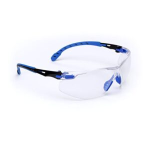 3M™ Solus™ 1000 Series Safety Glasses With Blue And Black Polycarbonate Frame And Clear Polycarbonate Scotchgard™ Anti-Fog Lens