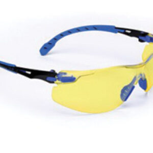 3M™ Solus™ 1000 Series Safety Glasses With Blue And Black Polycarbonate Frame And Amber Polycarbonate Scotchgard™ Anti-Fog Lens