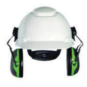 3M™ Peltor™ Black And Green Model X1P3E/32725(AAD) Cap Mount Hearing Conservation Earmuffs