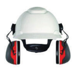 3M™ Peltor™ Black And Red Model X3P3E/37277(AAD) Cap Mount Hearing Conservation Earmuffs