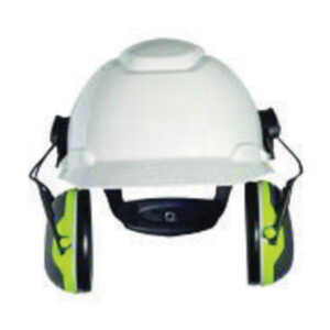 3M™ Peltor™ Black And Chartreuse Model X4P3E/37278(AAD) Cap Mount Hearing Conservation Earmuffs