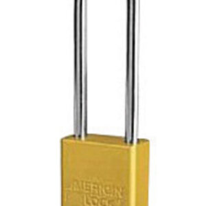 """American Lock® Yellow 1 1/2"""" X 3/4"""" Aluminum Safety Lockout Padlock With 1/4"""" X 3"""" X 3/4"""" Shackle (6 Locks Per Set, Keyed Differently)"""
