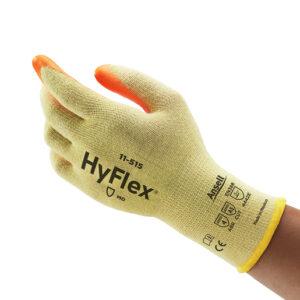 Ansell Size 10 Hi-Viz Yellow And Hi-Viz Orange HyFlex® Medium Weight Cut Resistant Gloves With Knit Wrist, DuPont™ Kevlar® Lining And Foam Nitrile Coating