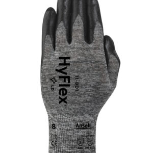 Ansell Size 10 HyFlex® Light Duty Multi-Purpose Black Foam Nitrile Palm Coated Work Gloves With Dark Gray Nylon Liner And Knit Wrist