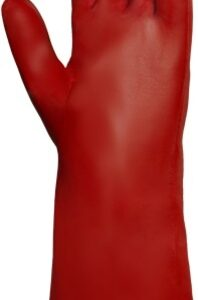"""Ansell Size 10 Red 14"""" Knit Lined PVA™ Fully Coated Chemical Resistant Gloves With Smooth Finish And Gauntlet Cuff"""