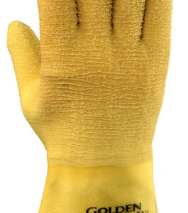 Ansell Size 10 Golden Grab-It® II Heavy Duty Multi-Purpose Cut Resistant Natural Rubber Latex Fully Coated Work Gloves With Jersey Knit Liner And Gauntlet Cuff