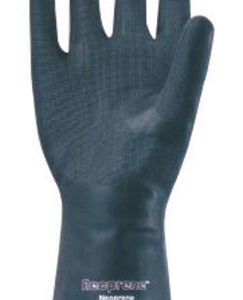 """Ansell Size 10 X-Large Black Neoprene® 13"""" Flock Lined 18 mil Unsupported Chemical Resistant Gloves With Sandpatch Finish And Straight Cuff"""