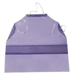 "Ansell 33"" X 54"" Blue CPP™ CB Series 6 mil Vinyl Chemical Protection Apron With Raw Edge"