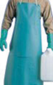 "Ansell 33"" X 49"" Green CPP™ 18 mil Vinyl Heavy Duty Chemical Protection Apron With Stomach Patch"