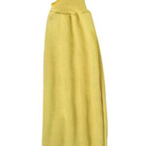 """Ansell Yellow 22"""" Light Weight Kevlar® Cut Resistant Assembler Interlock Sleeve With Thumb Hole And Knit Cuff"""