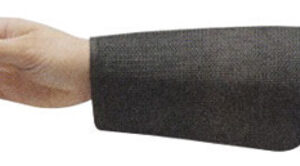 """Ansell Black 9"""" CPP™ 2-Ply Cane Mesh Cut Resistant Sleeve With Velcro® Closure"""